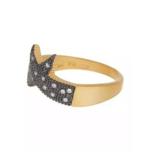 Freida Rothman 14K gold black Rhodium Plated Ring